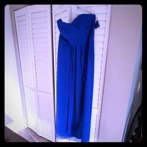 David's Bridal  dress. SIZE 14 Cornflower Blue